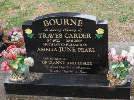 In loving memory of Traves Carder Bourne