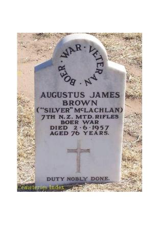 In Memorium - Augustus James Brown/Silver McLachlan
