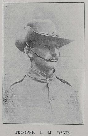 Trooper L M Davis from Tuparoa, Hawkes Bay, 3rd New Zealand Contingent