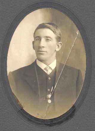 civilian photo kept by Mrs Frela Grayson of Auckland, widow of Edwin's nephew Reg Blackwell