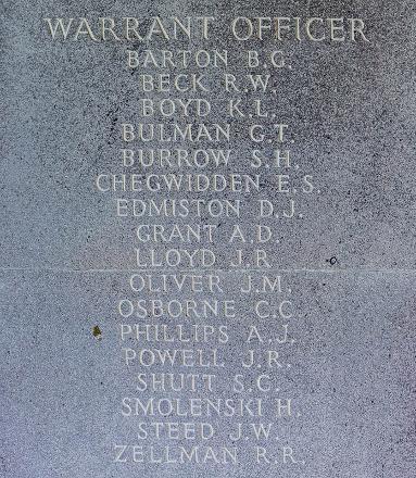 Sydney's name is inscribed inside Runnymede Memorial.