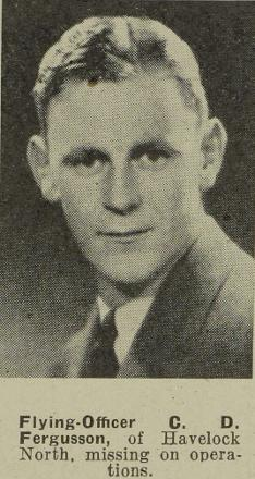 Flying-Officer C D Fergusson - of Havelock North.