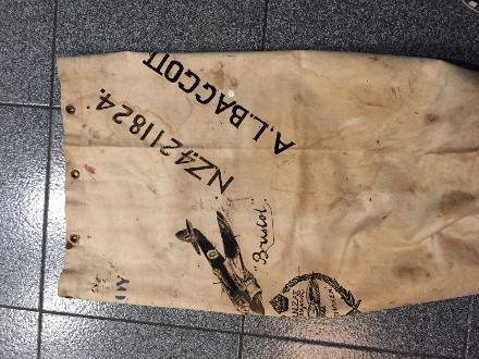The original gear bag where dad drew a Bristol freighter