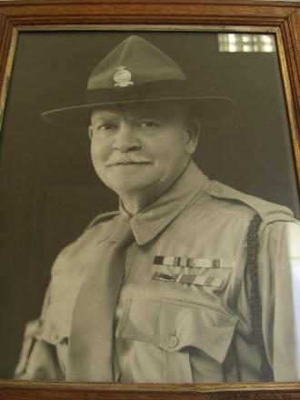 Photo of portrait at Waiouru Military Museum