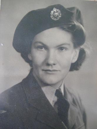 In airforce uniform