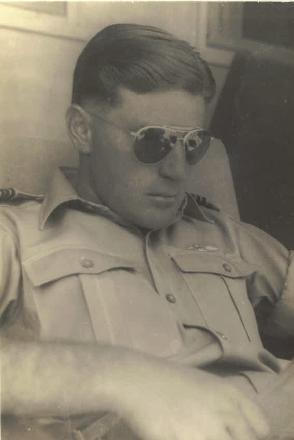 Nelson relaxing in uniform