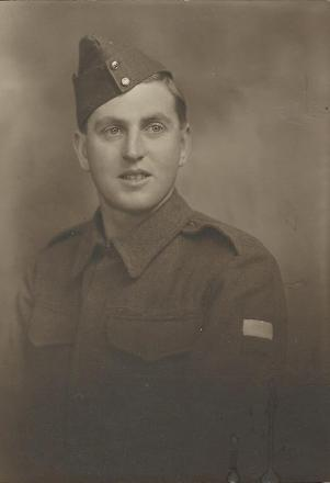 This is a photo of Jack Coatsworth just prior to him leaving for war.