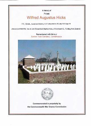 Certificate of burial