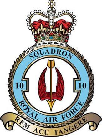10 Squadron RAF Badge.