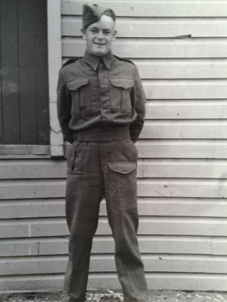 William Arthur Fiveash in uniform
