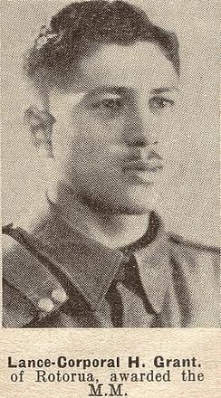 Lance-Corporal H. Grant, of Rotorua, awarded the Military Medal (MM)