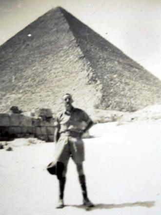Arthur at the Great Pyramids Egypt 1942