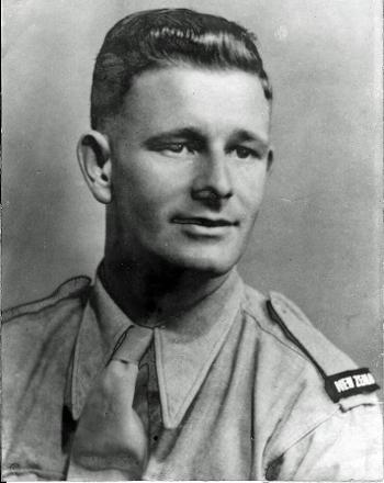 Studio photograph of Gunner Edwin Ronald Archer in uniform