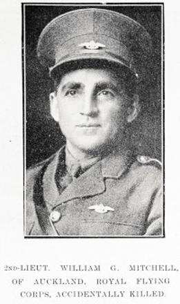 2ND-LIEUT. WILLIAM G. MITCHELL, OF AUCKLAND, ROYAL FLYING CORPS, ACCIDENTALLY KILLED.
