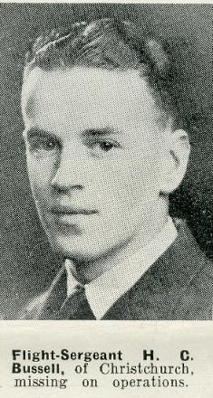 Flight Sergeant H C Bussell - of Christchurch