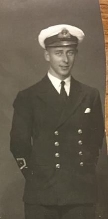 He went overseas with the Army and transferred to the Royal Navy Fleet Air Arm.
