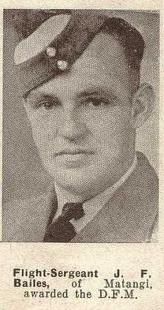 Flight Sergeant J F Bailes DFC - of Matangi.