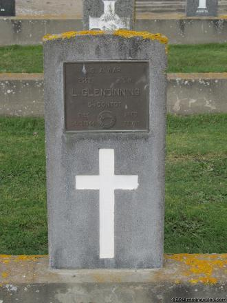 Grave of Logan GLENDINNING Bromley Cemetery, corner of Keighleys and Linwood Avenue, Christchurch, New Zealand Photographed 22 June 2014