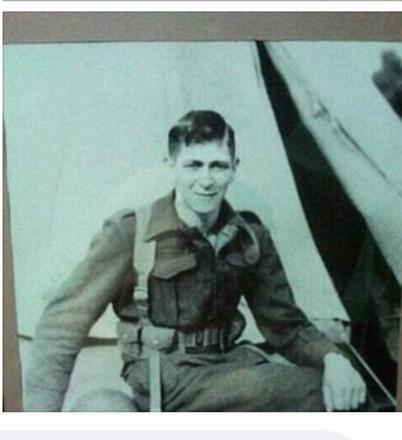 John (Jack) at Burham Military camp before leaving for duty overseas.
