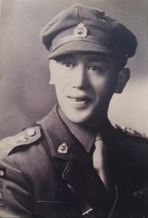 He was a captain in the Māori Battalion; Company A, when this picture was taken