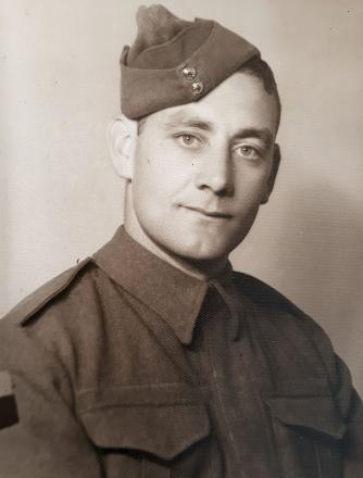 Boyce Rhodes Neil Andrews in Army Uniform