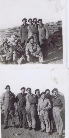 Taken in Western Desert late 1941. Ian is standing 2nd from right in both photos.
