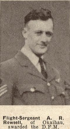 Flight Sergeant A R Rowsell DFM - of Okaihau.