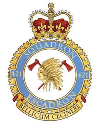 421 Royal Canadian Air Force (RCAF) Badge.