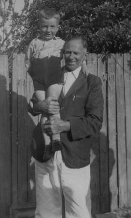 My great uncle Len and myself, I was 6 years old at his house in Ryde NSW Australia !949.