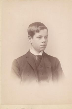 Family album photo of Joshua taken just before he left Wales in 1892 to sail to New Zealand