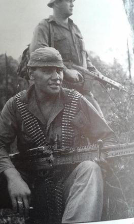 Tuakau (Tua) HUNTER. A machine gunner with Victor 2 Company, 2 Royal Australian Regiment -  SVN 12Nov67-13May68