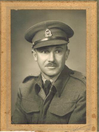 Photograph taken in Napier before he left for overseas service.