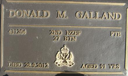 Plaque at Taumarunui New Cemetery RSA Section
