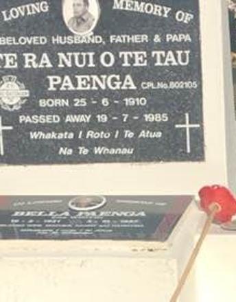 802105 Te Ra Nui O Te Tau Paenga Buried at Kahukura Urupa, Rahui Marae, Tikitiki.