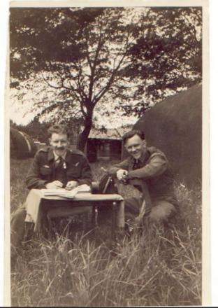 Grandad on the left unsure of companion