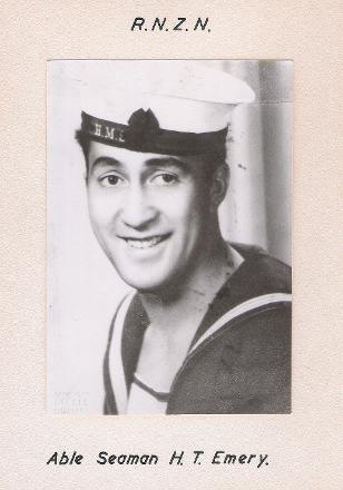 A Royal New Zealand Navy official photograph of Herbert T. Emery
