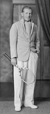 Camille ready for a game of tennis.