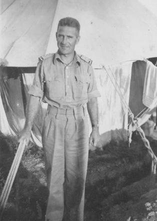 Photograph of 27712 Captain George Linton Hayman of the 16th Railway Operating Company, N.Z.E.  Taken in Egypt in 1942 by 27500 Sapper David William Petch.