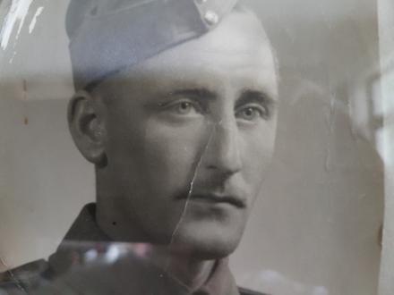 Head shot of my dad in uniform