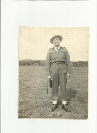William Samson in Uniform
