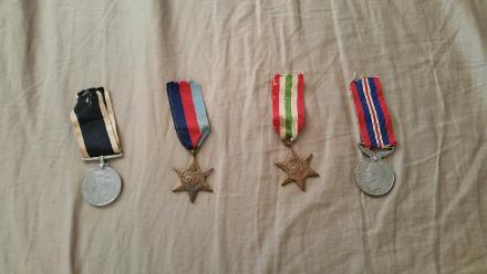 Albert John Donovan, WWII Medals in my possession