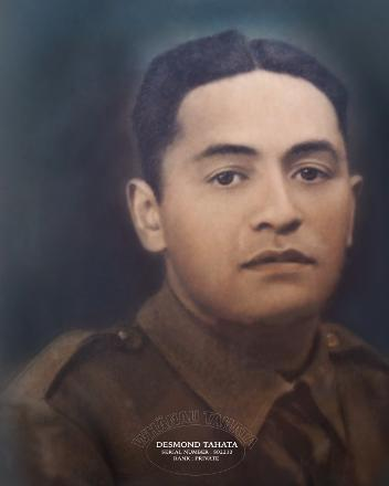 A family portrait of Grand Uncle Desmond, brother to our grandfather, Pani Peka Tahata.