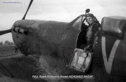 Flight Lieutenant Ralph Osbourne Brown - of Nelson, New Zealand.