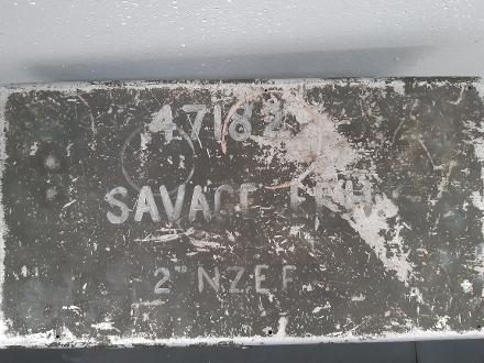 This is on the lid of the radio storage box I have.  John Savage's Army number, Initials and name are clear.
