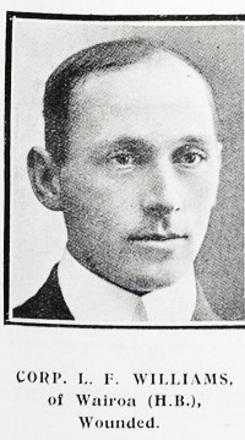 Corp Lionel F Williams of Wairoa (HB) wounded
