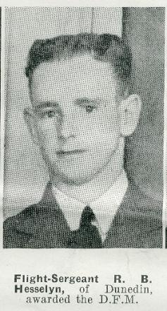 Flight Sergeant R B Hesselyn DFM - of Dunedin.