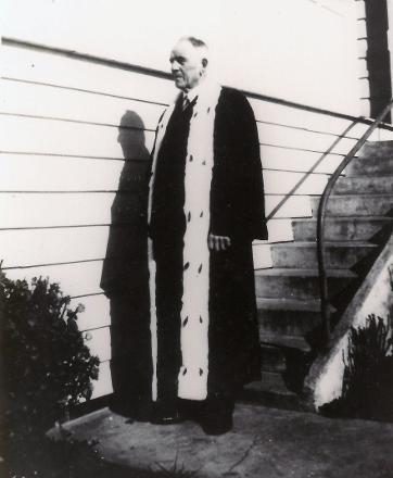 John Cameron in his Mayoral Robes, Mayor of Bluff 1938-1941