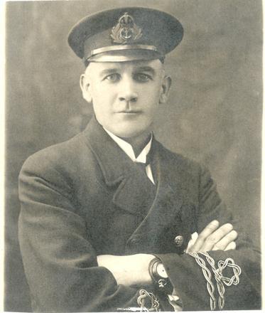 Military Portrait of Lieutenant A.D. Blair R.N.R.