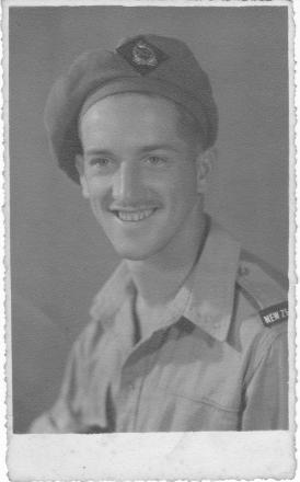 A photo of Murray Andrew Lovett in his army uniform.