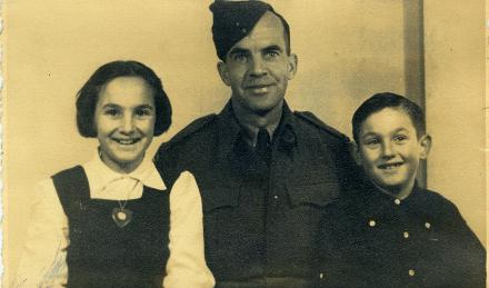 W.S.(Monty) Tootell with Yvonne and Barry his children